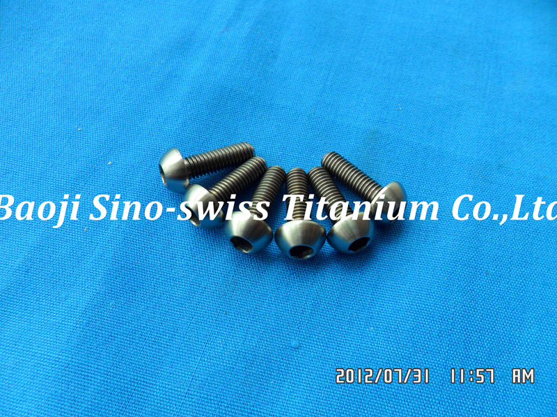 Round head titanium bolts ISO7380