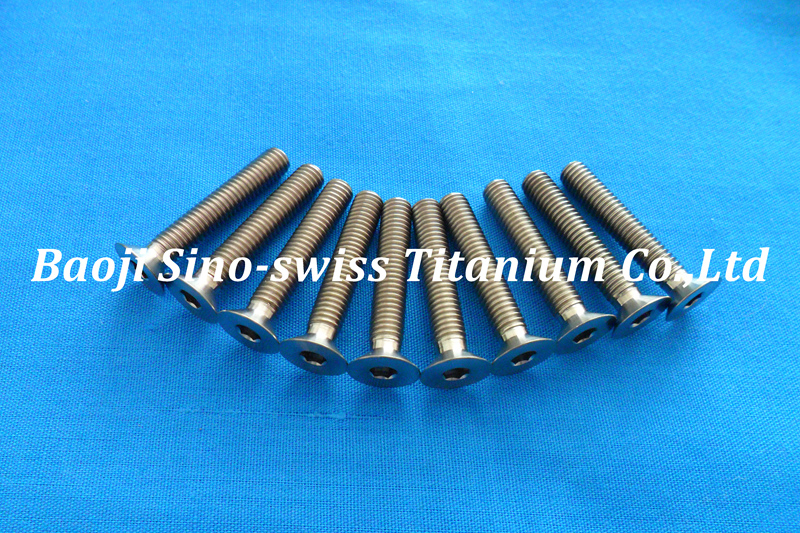 Titanium flat head hex socket screws pic 1