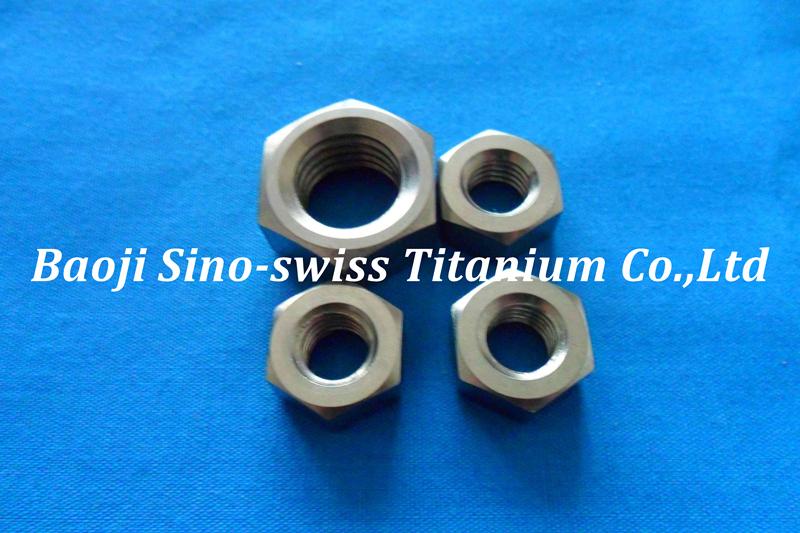 Titanium hex nut pic 1