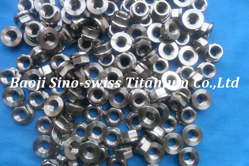 Hex flange titanium nut pic 1