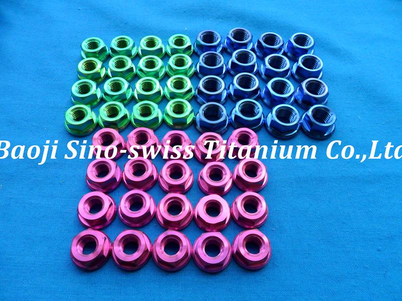Titanium flange nut/ Titanium Hex Flange Nuts pic 1
