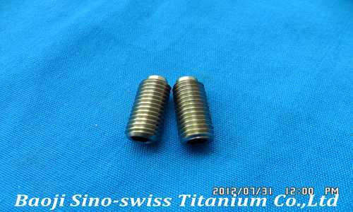 Titanium fastening screw
