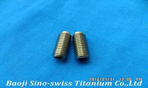 Titanium fastening screw pic 1
