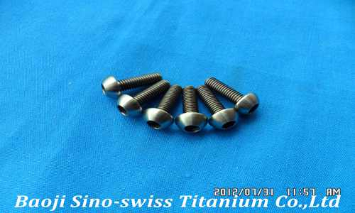 Round head hex socket titanium screws