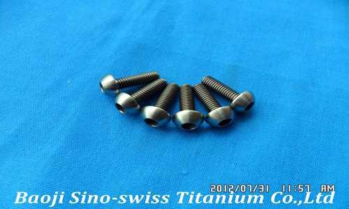 Round head hex socket titanium screws pic 1