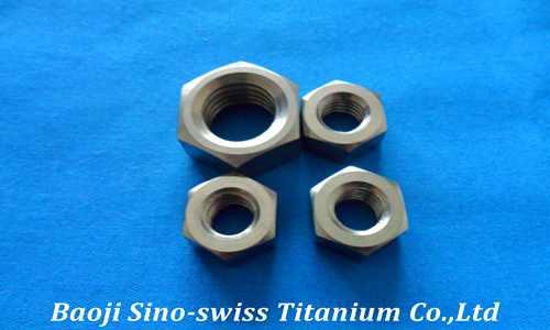Titanium hexagonal nut