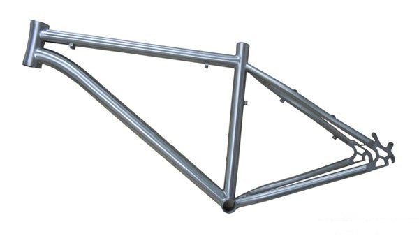 Titanium frame for bicycles