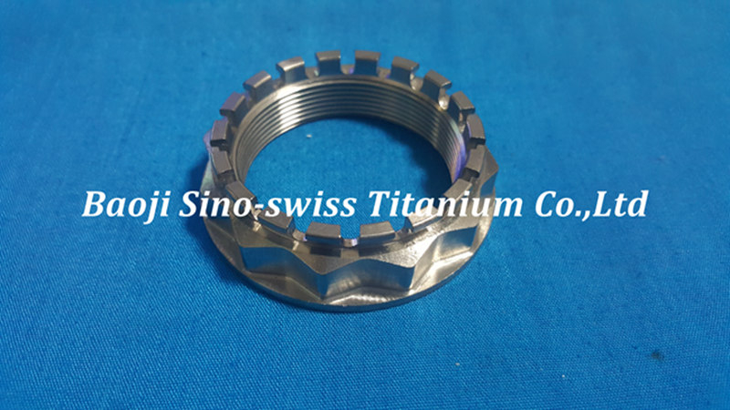 TITANIUM REAR WHEEL LARGE AXLE NUT pic 1