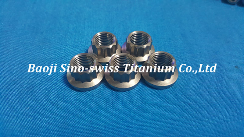 Titanium 12 Point flange nut pic 1
