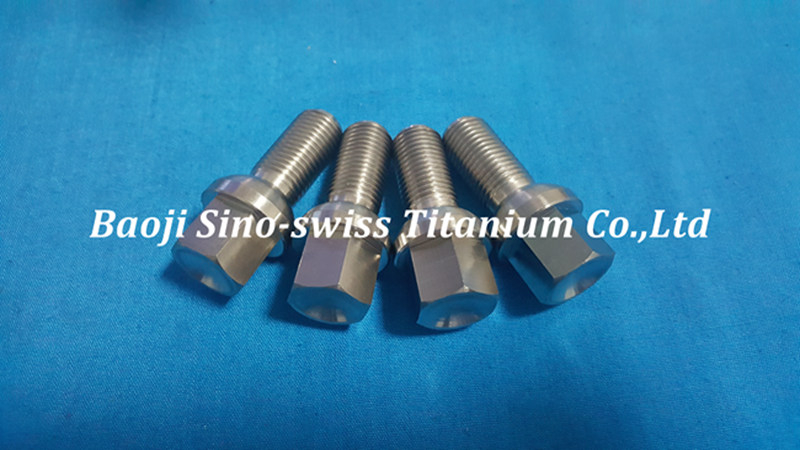 High strength titanium lug bolt pic 1