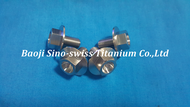 Big head titanium flange bolts