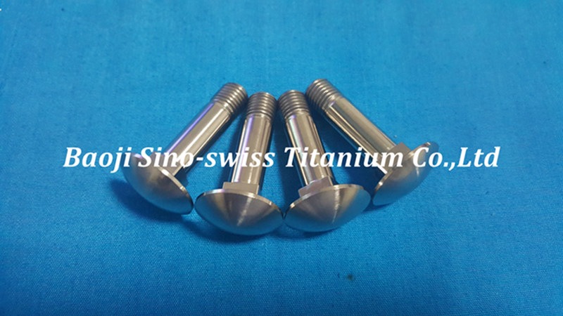 Round head square neck titanium bolts pic 1