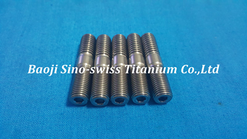 Titanium double-headed stud pic 1