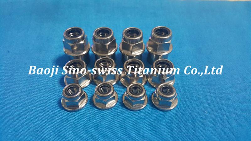 Titanium flange nylon nut black pic 1