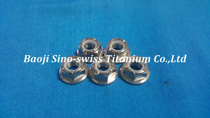 Titanium flange nylon nut pic 1
