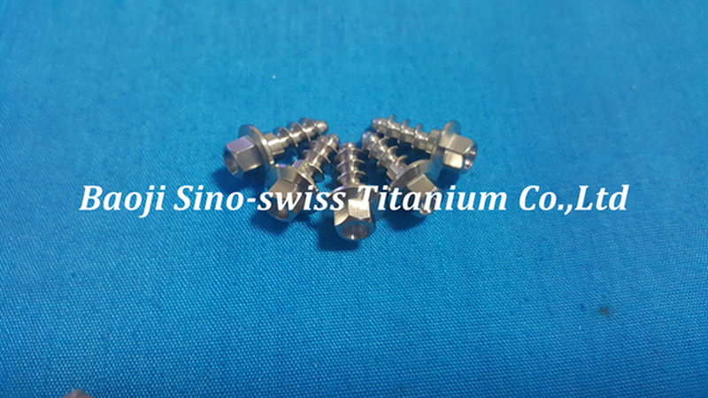 Titanium self tapping screw pic 1