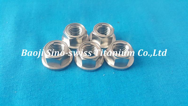 Titanium flange metal lock nut pic 1