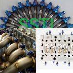 Titanium Exhaust Manifold Stud Kit Burnt blue